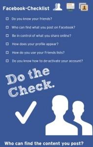 Facebook-checklist